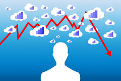 Economy decrease concept Royalty Free Stock Photography