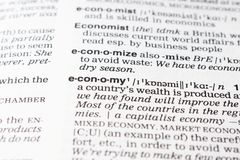 Economy definition Royalty Free Stock Photos