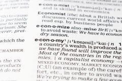 Economy definition Royalty Free Stock Photos