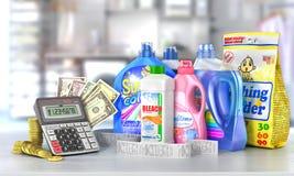 Economy on a detergents. Stock Photos