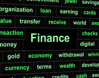 Economy Finance Means Investment Trading And Figures. Finances Financial Representing Commerce Trading And Figures Royalty Free Stock Photography