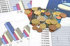 Economy and finance-shallow dof. Concept of economy and finance Stock Photography