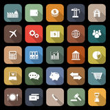 Economy flat icons with long shadow Stock Images