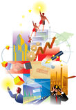 Economy and Future. An illustration of global economy and business growth Royalty Free Stock Image