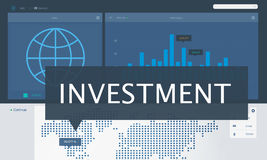Economy Global Business Marketing Managment Concept. Investment Finance Management Concept Stock Image