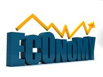 Economy going up Royalty Free Stock Photography