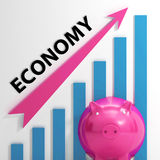 Economy Graph Means National Or International Royalty Free Stock Photography