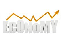 Economy graphic Stock Photography