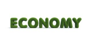 Economy green grass in the form of letters Royalty Free Stock Photography
