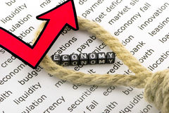 The economy is growing concept Royalty Free Stock Image