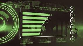 Economy growth chart report stock video