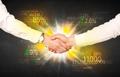 Economy handshake Royalty Free Stock Images