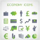 Economy icons Stock Photography