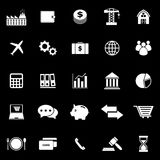 Economy icons on black background. Stock vector Royalty Free Stock Photo