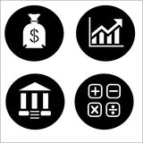 Economy icons - Illustration Royalty Free Stock Photo