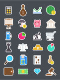 Economy   icons set. Set of 24 Economy   icons Stock Images