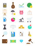 Economy  icons set. Set of 24 Economy  icons Stock Photos