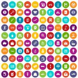 100 economy icons set color. 100 economy icons set in different colors circle isolated vector illustration Vector Illustration