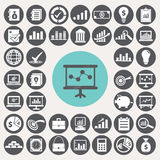 Economy icons set. Royalty Free Stock Photos