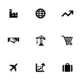 Economy 9 icons set Royalty Free Stock Photography