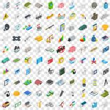100 economy icons set, isometric 3d style Stock Photo