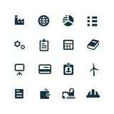 Economy icons set. On white background Royalty Free Stock Image