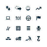 Economy icons set. On white background Royalty Free Stock Images