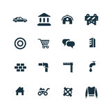 Economy icons set. On white background Royalty Free Stock Photos