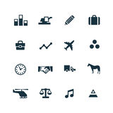 Economy icons set. On white background Stock Image
