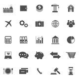 Economy icons on white background. Stock vector Stock Illustration