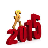 Economy Improves in 2015 Royalty Free Stock Photos