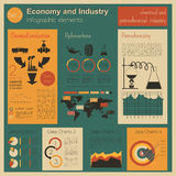 Economy and industry. Chemical and petrochemical industry. Indus Royalty Free Stock Photo