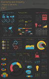 Economy and industry. Electric power. Industrial infographic tem Royalty Free Stock Photography