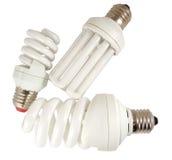 The Economy lamp. Economy lamps isolated on white background Stock Photo