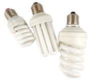 The Economy lamp. Economy lamps isolated on white background Royalty Free Stock Photo