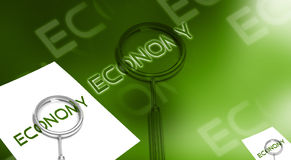 Economy letter and lance Royalty Free Stock Image