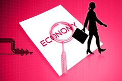 Economy letter and lance Stock Photography