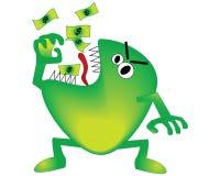 Economy monster Royalty Free Stock Image