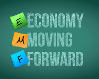 Economy moving forward Royalty Free Stock Photos