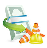 Economy protection barrier illustration Stock Photography
