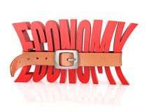 Economy recession, deficit 3d illustration. Economy recession, deficit concept, 3d rendering isolated illustration on white background Royalty Free Stock Image