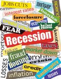 Economy & Recession Montage Stock Photos