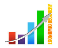 Economy recovery chart arrow illustration Stock Images