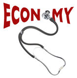 Economy's health checkup, isolated Stock Photography