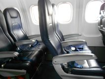 Airplane Economy Seats royalty free stock images