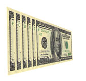 Economy. Serial numbers on dollar bills draw up words Royalty Free Stock Image