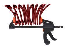 Economy squeeze Stock Image