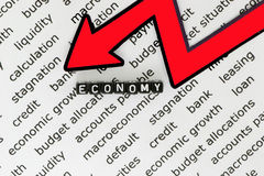 The economy. In the symbol Royalty Free Stock Photo