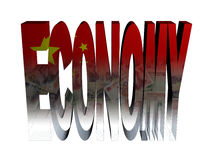 Economy text with Chinese flag and Yuan Royalty Free Stock Images