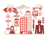 Economy vector illustration Royalty Free Stock Image